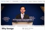 Bài viết của Thủ tướng trên website WEF có sức nặng rất lớn!