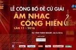 Lễ công bố Giải thưởng Âm nhạc Cống hiến lần thứ 11 tại FLC Vĩnh Thịnh Resort