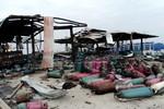 Chùm ảnh:Hiện trường nhà máy chiết nạp gas tan hoang sau vụ nổ như bom