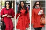Nàng công sở mặc đẹp: Mix áo khoác đỏ đẹp rạng ngời như sao Hollywood