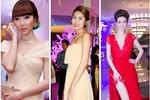 Sao Việt rộn ràng váy áo đơn sắc đầu năm