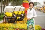 Trần Thị Quỳnh thướt tha giữa mùa xuân