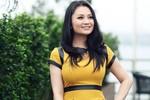 Diệu Hương làm mẫu thời trang sau 9 tháng sinh con