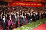 Trí tuệ và bản lĩnh mới thấu được khẩu hiệu treo ở hội trường Đại hội Đảng