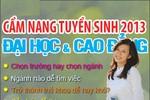 Cẩm nang tuyển sinh ĐH, CĐ 2013 chính thức ra mắt