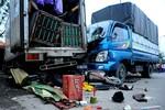 Xe tải mất lái đâm chết 2 người, làm bị thương 3 người