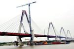 Cầu Nhật Tân sắp nối hai bờ Sông Hồng