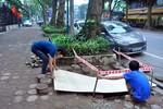 Mất trộm hơn 31,5 tấn sắt dự án thoát nước Hà Nội