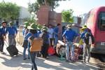 Đưa màu xanh tình nguyện sang nước bạn Lào