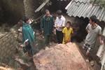 Hàng chục tấn đá bất ngờ đổ ập xuống đè sập 3 nhà dân