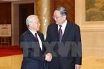 Tổng Bí thư hội kiến Chủ tịch Chính Hiệp Trung Quốc Du Chính Thanh