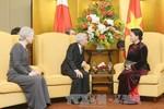 Nhà Vua, Hoàng hậu Nhật Bản cảm kích trước cử chỉ đẹp của Chủ tịch Quốc hội