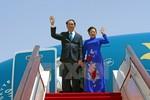 Hình ảnh Chủ tịch nước Trần Đại Quang bắt đầu chuyến thăm Trung Quốc