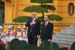 Hình ảnh lễ đón chính thức Tổng thống Hoa Kỳ Donald Trump
