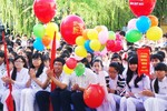 Học sinh Hà Tĩnh tựu trường ngày 20/8