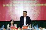 Phó Thủ tướng Vương Đình Huệ làm việc với Bộ Y tế về cơ chế một cửa