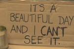 Clip: Dòng chữ kỳ diệu mang hạnh phúc đến cho người ăn xin mù