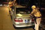 Đã xác minh danh tính xe biển xanh đi vào đường cấm, tông xe CSGT HN
