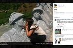 """Phảm cảm với những hình ảnh nữ sinh lại """"vô lễ"""" với tượng đài lịch sử"""