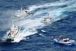 5 tàu kéo, 6 tàu Hải cảnh Trung Quốc vây ép một tàu kiểm ngư Việt Nam