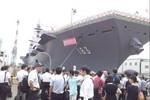 Nhật Bản chính thức hạ thủy tàu khu trục Izumo, sẵn sàng đón F-35