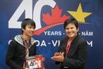 Công bố logo kỷ niệm 40 năm thiết lập quan hệ Việt Nam-Canada