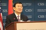Chủ tịch nước Trương Tấn Sang thuyết trình trước các học giả quốc tế