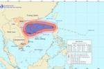 Bão số 12 có gió giật cấp 14, 15 trên Biển Đông