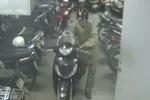 Video: Xe SH bị 'người lạ' dắt qua mặt bảo vệ