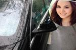Vy Oanh bị trộm 'vặt' gương xe Mercedes S500 giữa phố