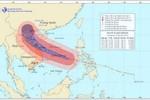 Sức gió mạnh nhất ở vùng gần tâm bão Haiyan giật trên cấp 17