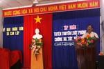 Công an xã Cam Lập tổ chức tuyên truyền phòng chống ma túy