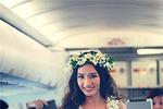 Hoa hậu Trúc Diễm và dàn mẫu mặc bikini làm 'náo loạn' máy bay