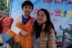 Lớp 'điểm' trường Ngôi Sao tưng bừng với Hội chợ Xuân
