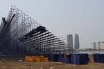 Khán đài vạn chỗ xem pháo hoa ở Đà Nẵng sắp hoàn thành