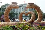 Người dân Sài Gòn du xuân trên đường hoa Nguyễn Huệ