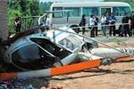 1 trực thăng Trung Quốc vướng dây điện cao thế phát nổ