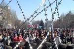 Cảnh sát tái chiếm trụ sở Kharkiv, người biểu tình cố thủ Donetsk