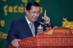 Ông Hun Sen chỉ huy diễn tập chống khủng bố ở trụ sở CNRP từ Singapore