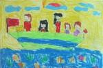 Tranh dự thi của Mai Hương, lớp 3A3, Tiểu học Đồng Nhân (MS:335)