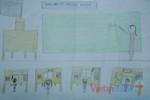 Tranh dự thi của Lê Giang,lớp 4H,Trường Tiểu học Dịch Vọng A(MS:365)
