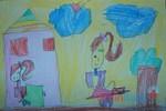 Tranh dự thi của Quỳnh Anh, lớp 1A, Tiểu học Xã Đàn (MS:482)