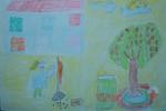 Tranh dự thi của Duy Khánh, lớp 5A, Tiểu học Xã Đàn (MS:486)
