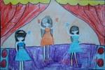 Tranh dự thi của Thúy Hiền, lớp 5A, Tiểu học Xã Đàn (MS:489)