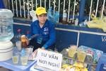 Chùm ảnh: Vẻ đẹp áo xanh trong kỳ thi quốc gia