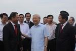 Tổng Bí thư thăm Dự án tổ hợp sản xuất ô tô VINFAST tại Thành phố Hải Phòng
