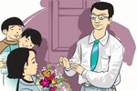 Quà của học trò dưới ánh mắt thầy Trần Nguyên Hào