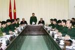 Thượng tướng Nguyễn Thành Cung làm việc với UBND tỉnh Cao Bằng