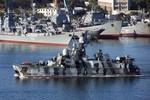 Hạm đội Biển Đen tiến hành diễn tập đêm ở vùng biển Novorossiysk