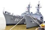 Cận cảnh đoàn tàu huấn luyện chiến đấu của  Nhật Bản ở Đà Nẵng